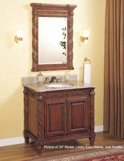 24 Inch Single Sink Bathroom Vanity with Peach Granite UVEIT24