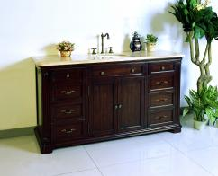 Bathroom Vanity on 60 Inch Single Sink Bath Vanity In Dark Cherry Brown Uvlfw54281160