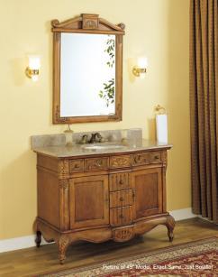 36 Inch Single Sink Bathroom Vanity With Peach Granite Counter Top Uveiy36