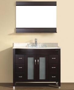 42 inch single sink bathroom vanity with choice of top in chai