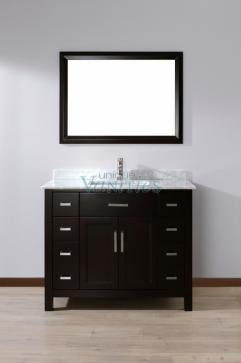 42 Inch Single Sink Bathroom Vanity With Marble Top In Espresso Uvabxkaes42